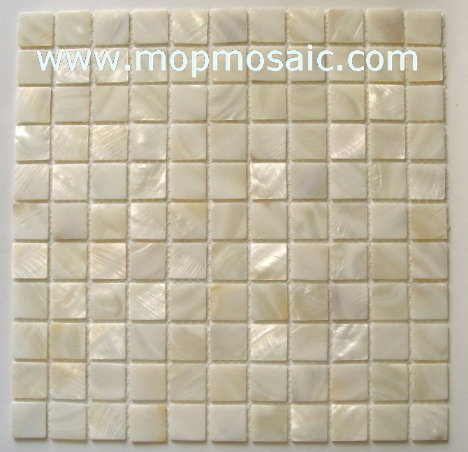 white mother of pearl shell mosaic