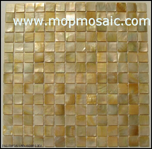 Yellow mother of pearl mosaic