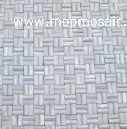 Pure white shell mosaic(3D Raise)