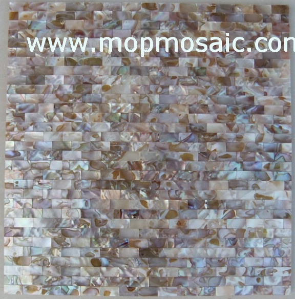 Seamless rainbow dapple color shell mosaic