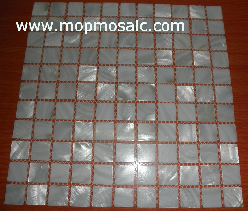 white color freshwater shell mosaic
