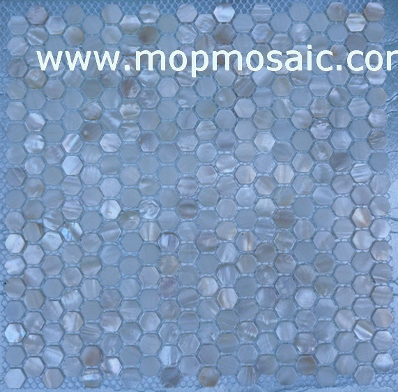 white mother of pearl shell mosaic(Hexagonal shape)