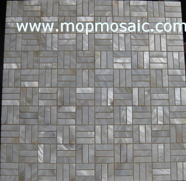 White shell mosaic,striangle angle shell mosaic