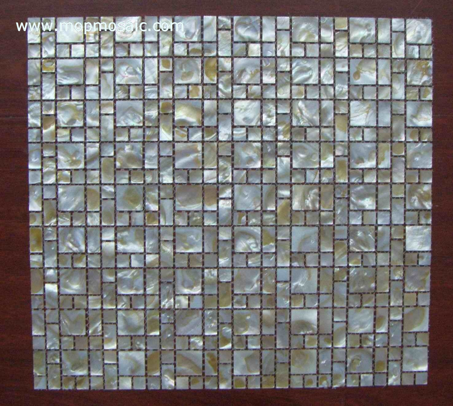 Dapple color shell mosaic backing on mesh