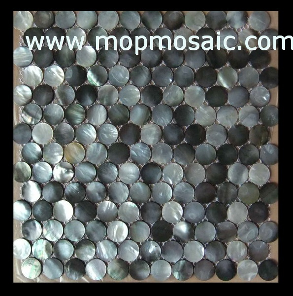 Coin blacklip shell mosaic,mother of pearl shell tiles