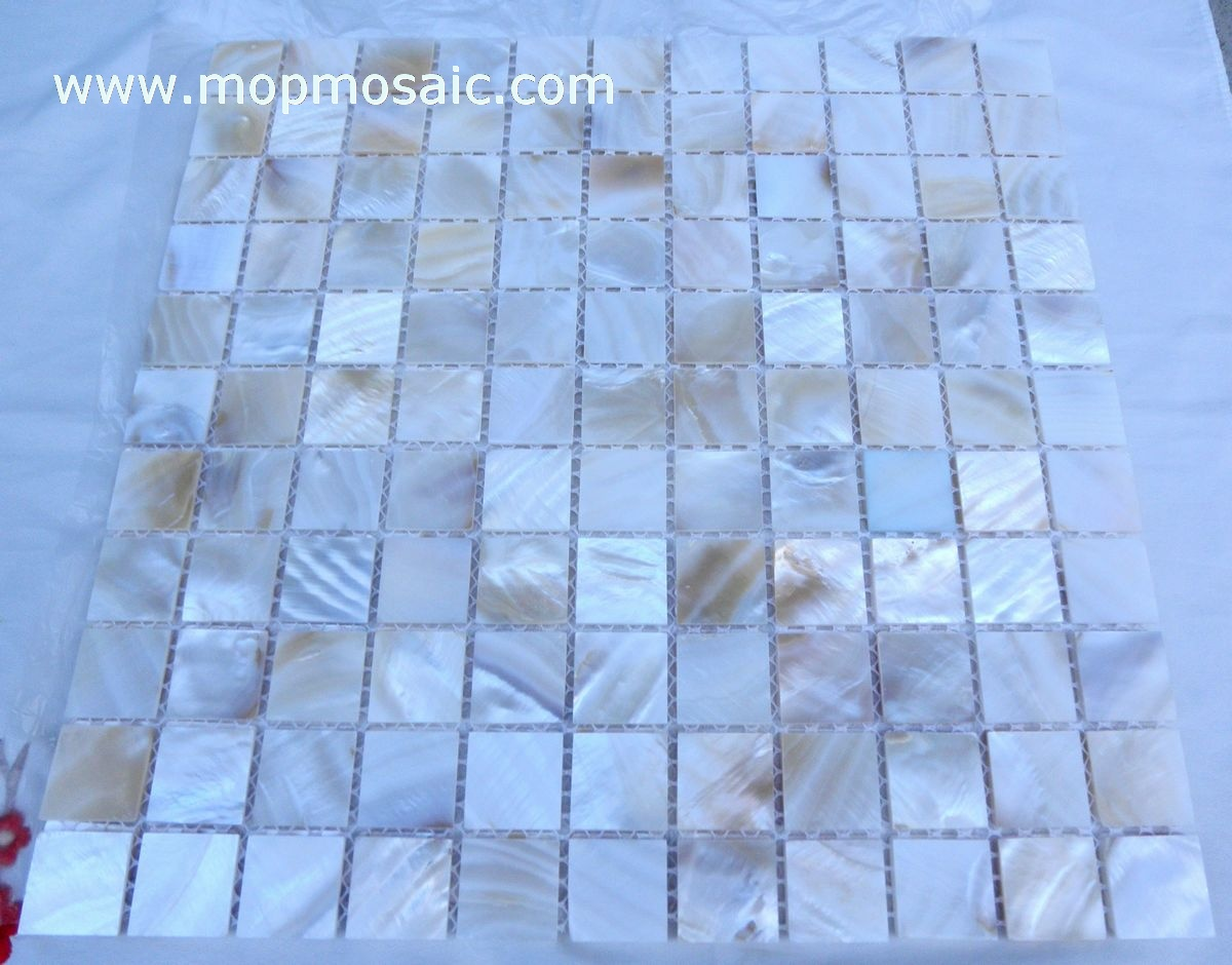 Straight angle natural color shell mosaic