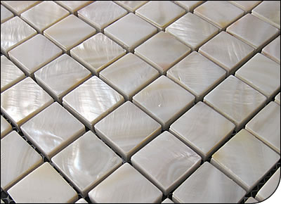 6MM thickness white shell mosaic