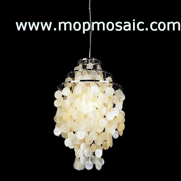 white White capiz shell chandelier accessory(Common and oil)