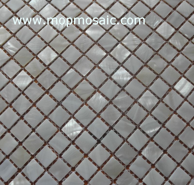 15*15mm natural pure white freshwater shell mosaic
