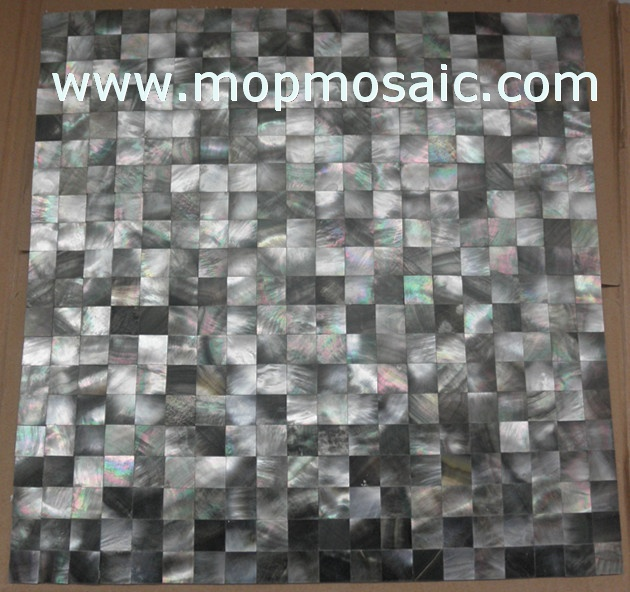 Seamless blacklip shell mosaic backing on mesh
