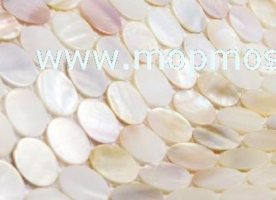 Natural color round mother of pearl mosaic