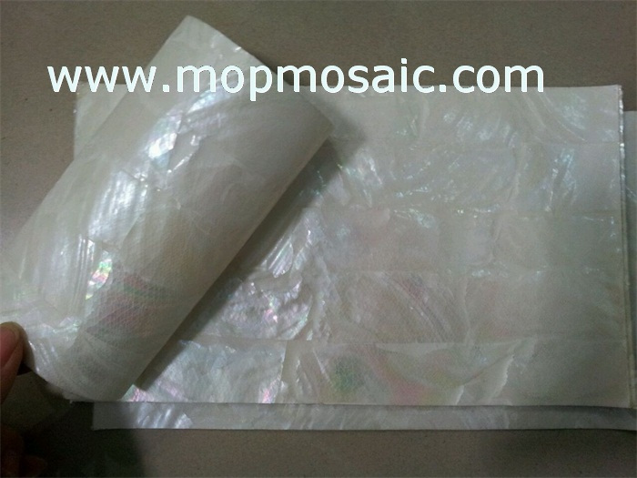 Flexible white freshwater shell paper