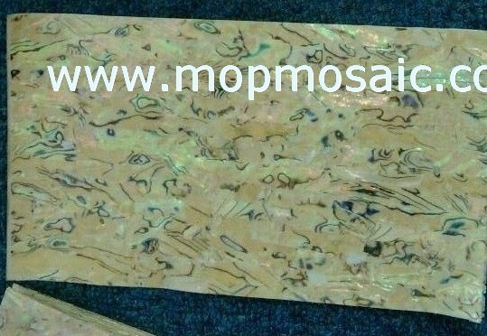 Flexible yellow abalone laminated sheet