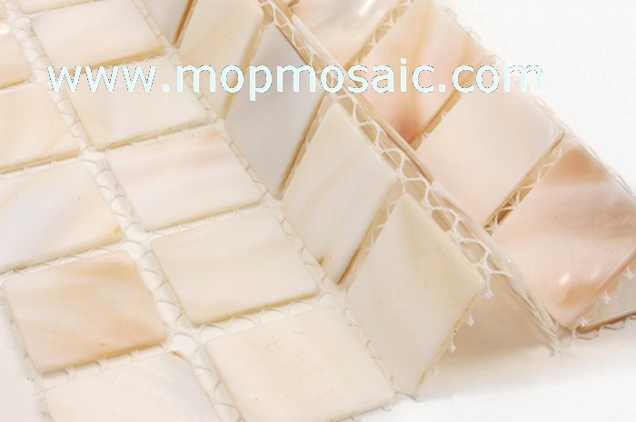 25x25mm natural color mother of pearl shell mosaic