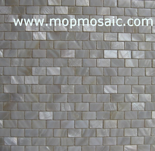 Natural white mother of pearl mosaic