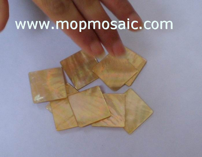 Yellowlip mother of pearl shell tiles