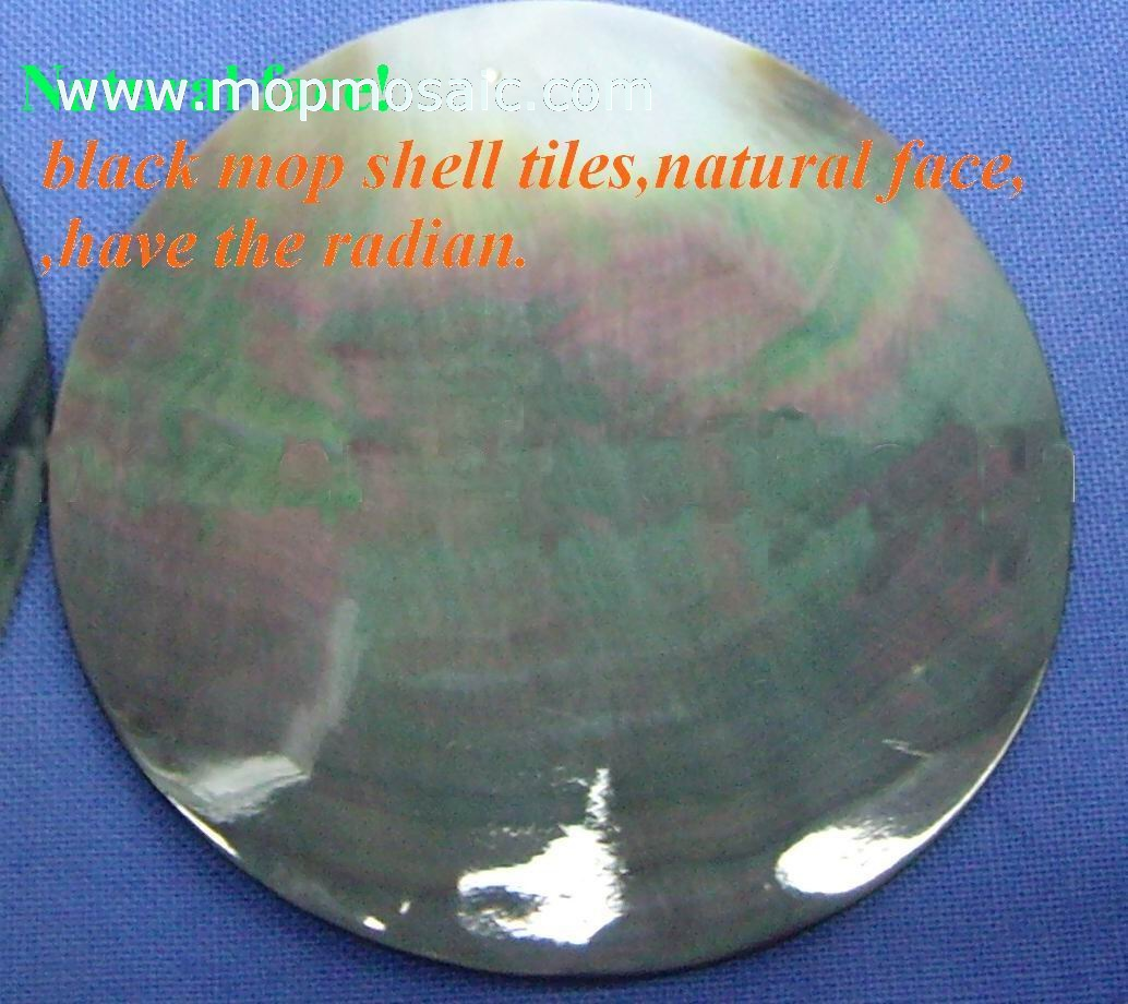 Black coin mother of pearl tiles