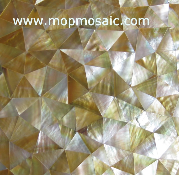 Triangle Yellowlip  Shell Tiles